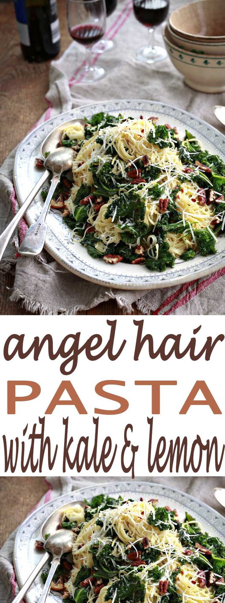 You've got to try this Angel Hair Pasta with Kale and Lemon - it's so delicious. If you're looking for more recipes with kale to try, this is a great one!