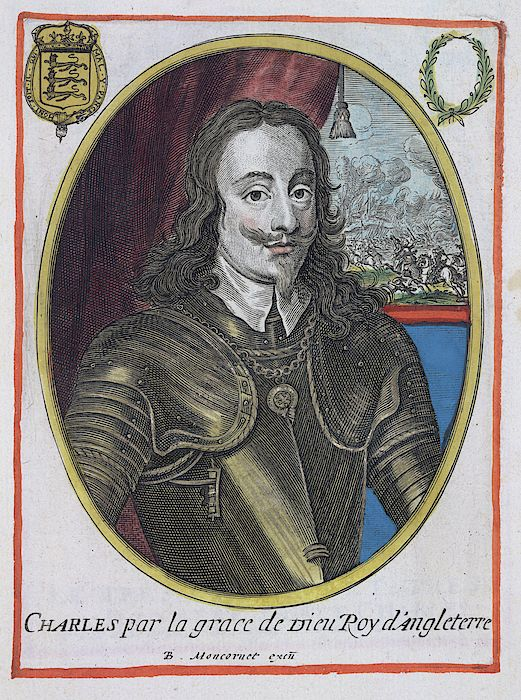 Charles I (1600-49). King of Great Britain and Ireland. Portrait. Image taken from A collection of 279 coloured portraits of illustrious persons engraved by B. M.