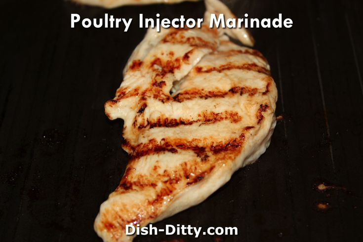 Poultry injector marinade
