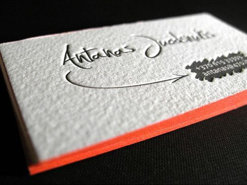 9311 best Unique Business Card Design images on Pinterest - letterpress business card