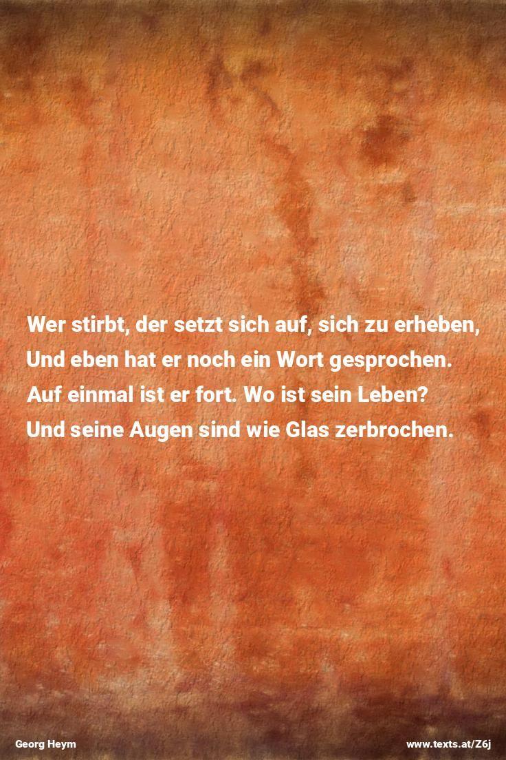 """aus """"Die Menschen stehen vorwärts in den Straßen"""" von Georg Heym https://www.texts.at/Z6j  #Gedicht #Heym"""
