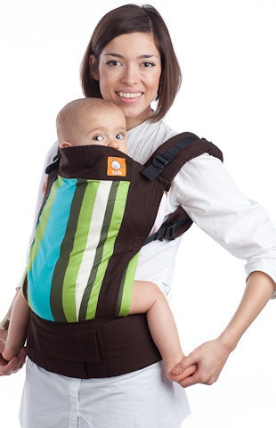 Smoking hot Asian style baby carrier get