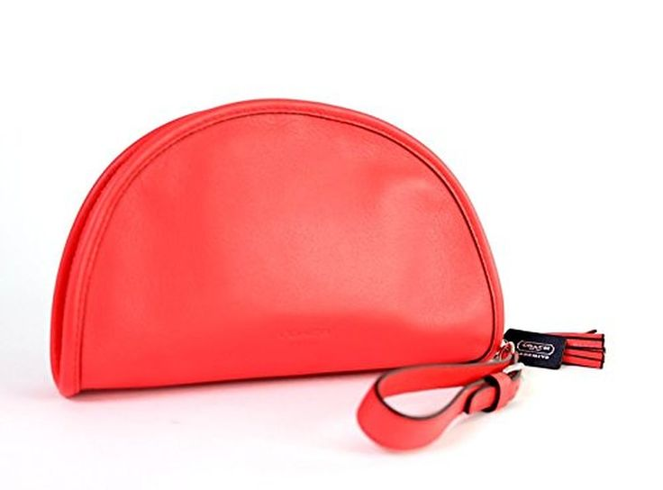 Coach 48877 Bright Coral Legacy Archival Kimball Clutch Wristlet