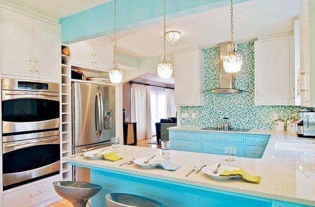 Кухня цвета морской волны - Дизайн интерьеров   Идеи вашего дома   Lodgers