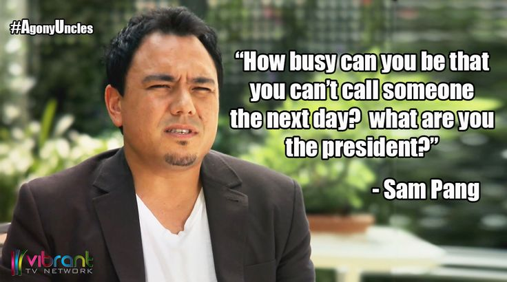 Asking someone out could be difficult but figuring out the right time to call could be even harder! You don't want to call to soon and appear eager nor call too late and seem uninterested.Check out what the Sam Pang from Agony Uncles had to say about that at www.vibrant.tv #AgonyUncles #Comedy #Advice