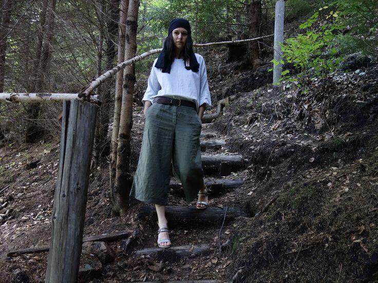 Linen Pants, 3/4 Trousers, Large Pants, Sustainable fashion, Ethical closet, Slow fashion