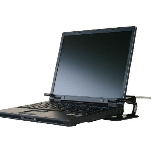 Compucage Benji 2: Mechanical Laptop Protection: You don't have to worry that someone made a duplicate of your lent out key. The Benji 2 can be bolted down to a desk, podium or cart or affixed with a cable. This will protect your laptop from thefts. #Mechanical #Laptop #Protection