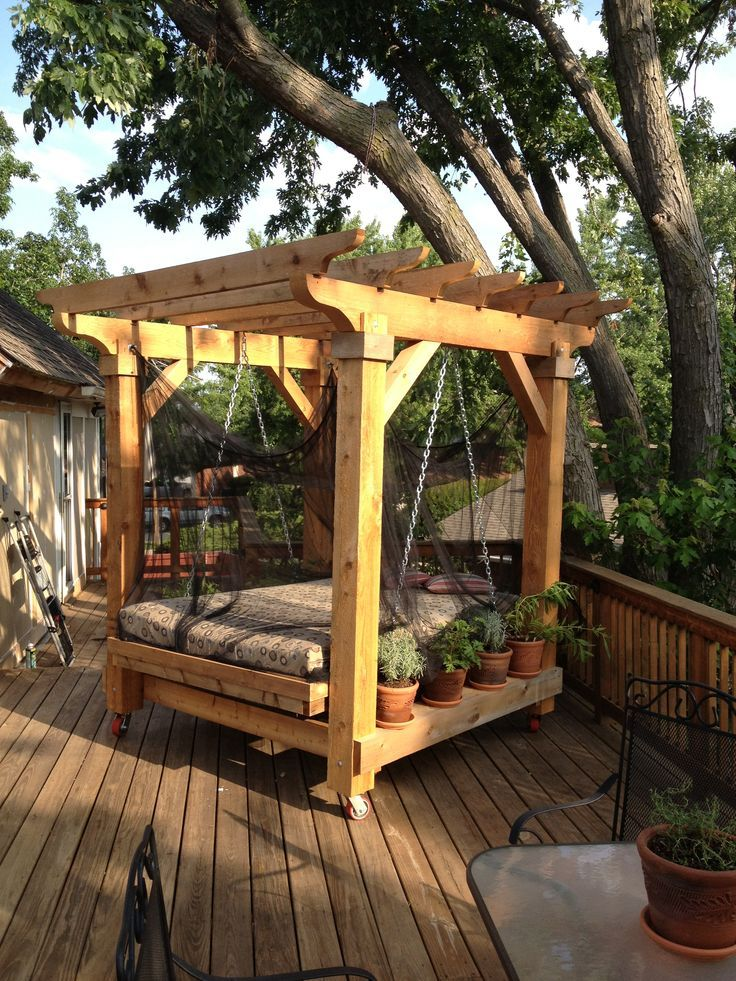17 best ideas about outdoor swing beds on pinterest. Black Bedroom Furniture Sets. Home Design Ideas