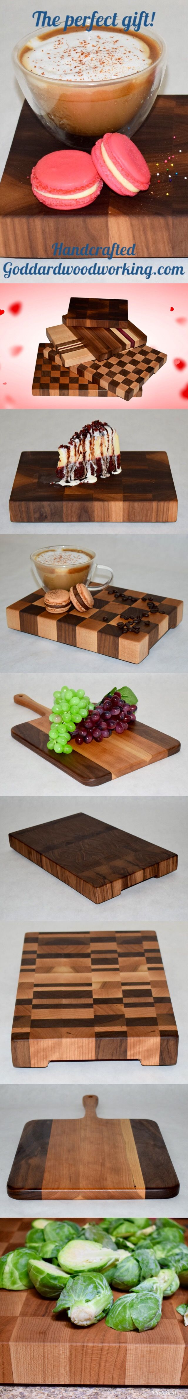 Make any party appetizer and dessert stand out when displayed on a handcrafted end grain cutting board! These boards not only serve a purpose, but also provide a animated eye-catching piece of décor for your home. #wine #winetime #handcrafted #cuttingboard #cooking #handmade #woodworking #foodie #partydecor #gifts #giftguide #giftsforher #amazing #giftideas #cook #chef #house #kitchendesign #wedding #weddinggift #dinnerparty #partytime #kitchenideas #homedecor #party #partyfood…