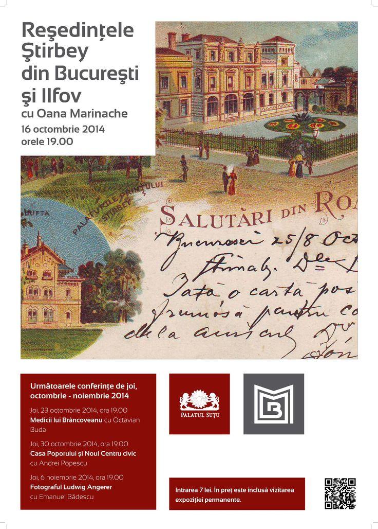 Reședințele Știrbey din București și Ilfov cu Oana Marinache, joi, 16 octombrie
