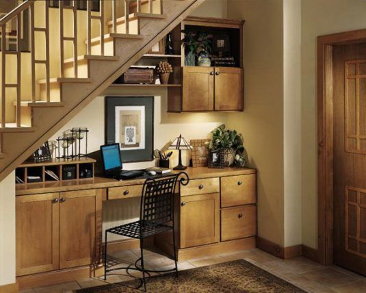 16 Space-Savvy Under the Stairs Desks