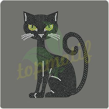 Wildcat rhinestone design transfers for dresses decoration