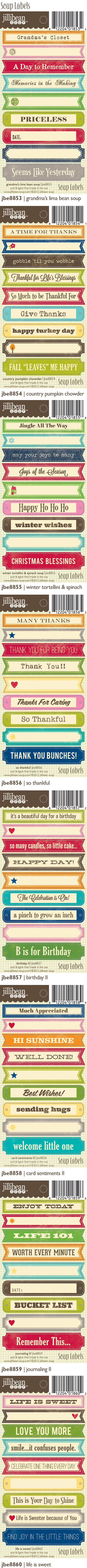 I'll take them all please!  Soup Labels
