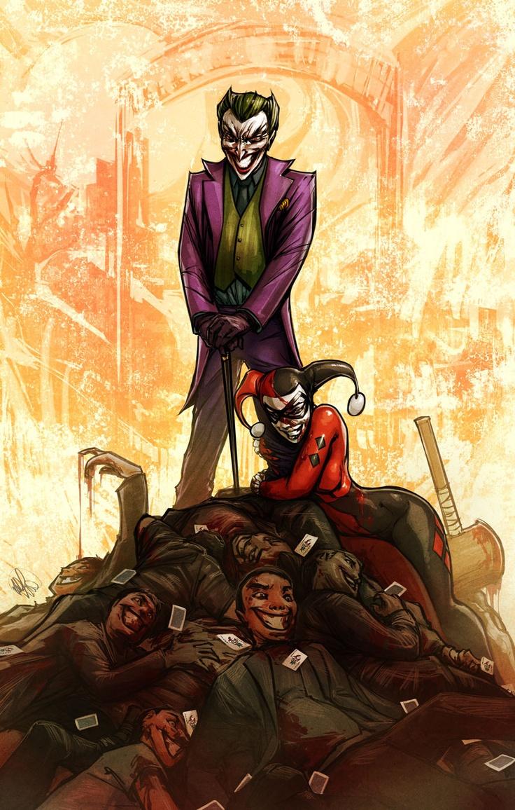 Joker and harley quinn modern characters historical art biz20