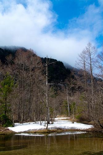White snow island #japan #nagano #kamikochi