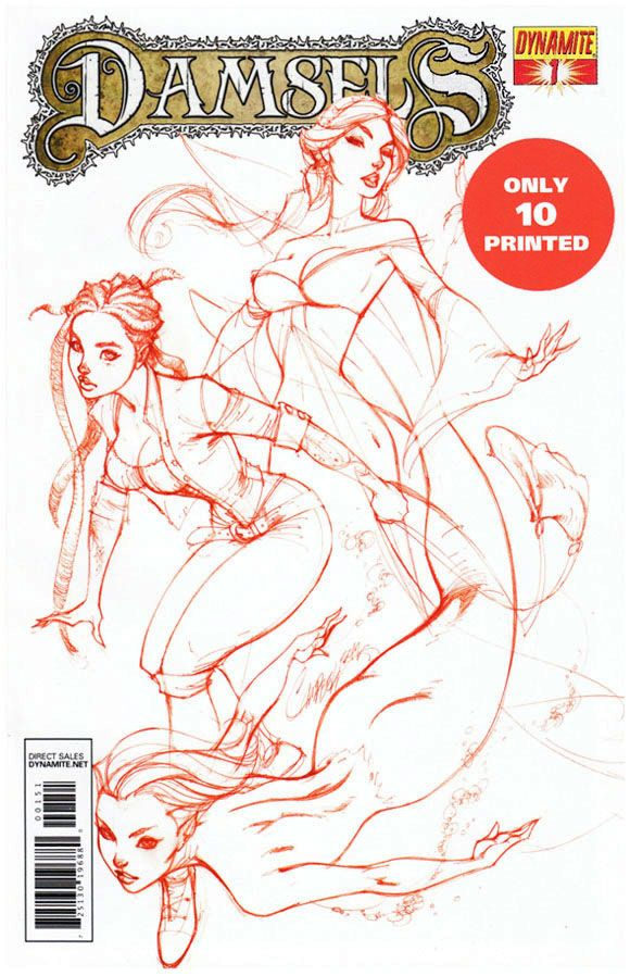 "Ultra Rare Damsels #1 ""Rose Red"" J Scott Campbell cover. Click the pic and find our more..."