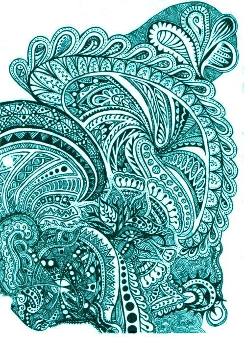 Paisley Patterns In Aqua