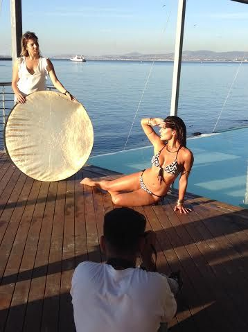 Great photo shoot today at Shimmy with Jeannie D @Jeannieous @CindyNell @Caribbean Tan & photographer, Vanessa Correia