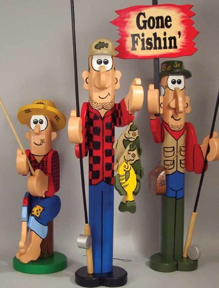 19-W2830 - Post Fishermen Woodworking Plan Set - 3 plans included.