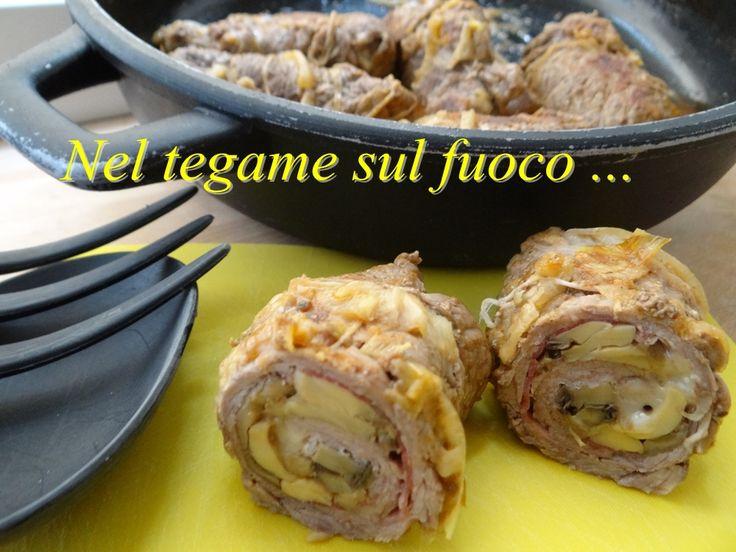 Involtini di manzo con zucchine e funghi - ricetta secondi -
