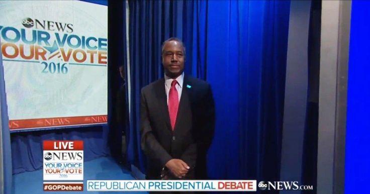 Ben Carson and Donald Trump botch Republican debate entrance - NY Daily News