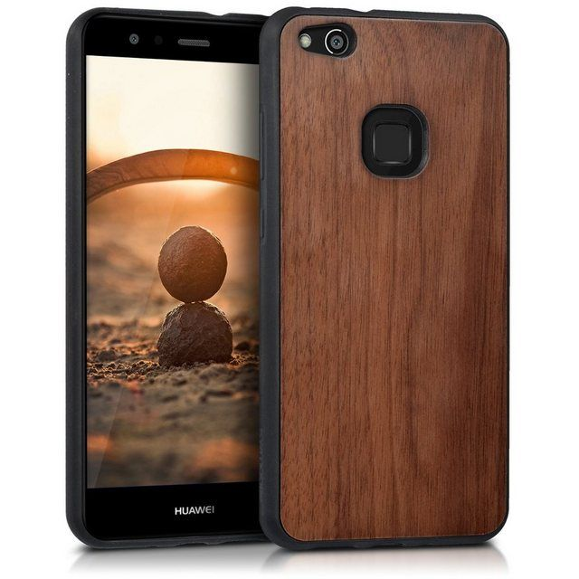 Handyhulle Holz Schutzhulle Fur Huawei P10 Lite Hardcase Hulle Mit Tpu Bumper Handy Case Cover Handy Case Schutzhulle Handy