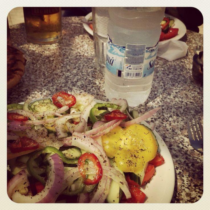Greek salad and wather