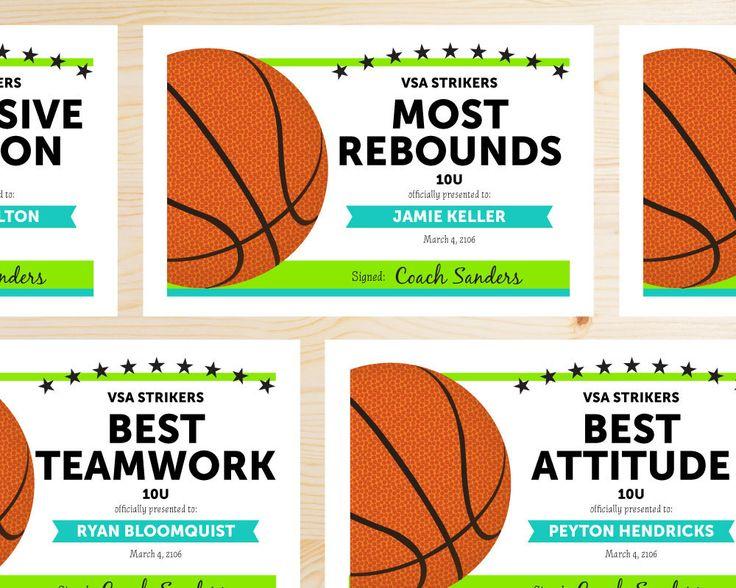Best 25+ Basketball awards ideas on Pinterest Basketball - sports certificate in pdf