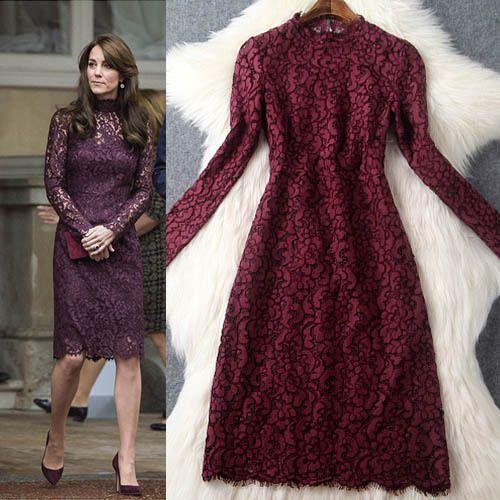 Качественные, сексуальные кружевные платья с длинным рукавом, седлающие Вас привлекательной, как принцесса Кейт и другие знаменитости