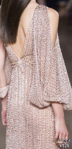 Feeling a little bold? How about wearing this beautiful beaded dress from Georges Hobeika Fall 2017 Haute Couture?