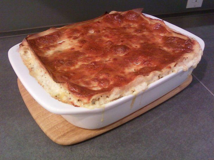 overflowing lasagne