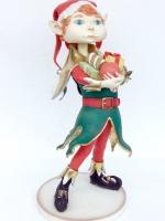 Elf Boy/kerstfiguren-kerstbeelden