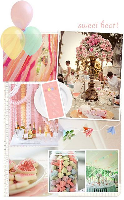 Set The Scene For A Romantic Wedding With Pretty Pastel Decor Balloons And Paper Streamers Make Easy But Effective Decorations Pi