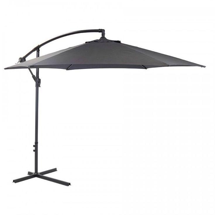 Garden Parasol Umbrella Outdoor Patio Hanging Sun Shade Canopy Large 3 M Grey #GardenParasolUmbrella #GardenUmbrella