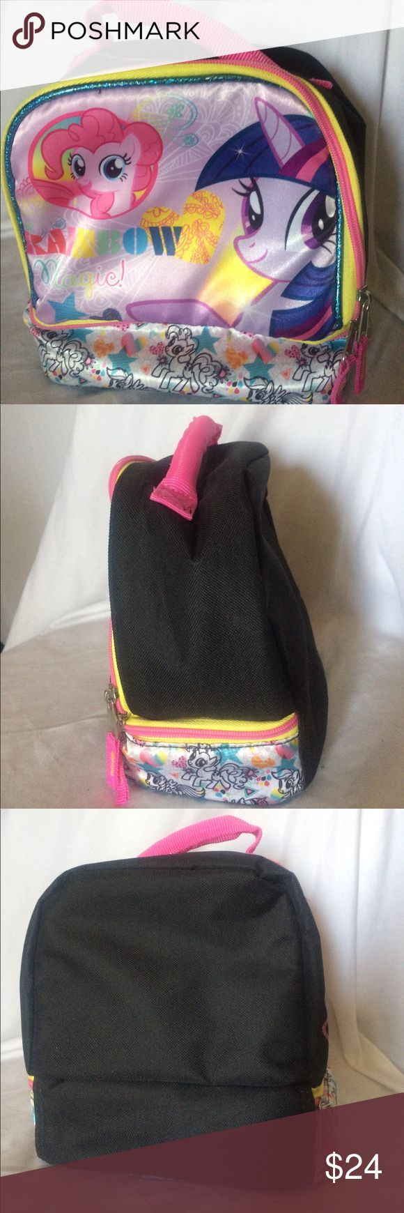 My Little Pony insulted lunchbag Officially licensed My Little Pony backpack style lunch bag keep snacks cool with freezer pack or can be used as a regular bag for kids, punks and ravers. 😉🌈 My Little Pony Accessories Bags