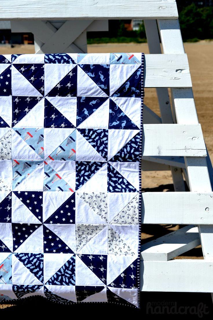Pinwheel Beach Quilt - Modern Handcraft for Dear Stella // A Tutorial