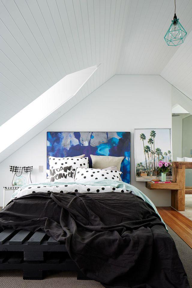 Déco chambre créer une tête de lit en peinture originale