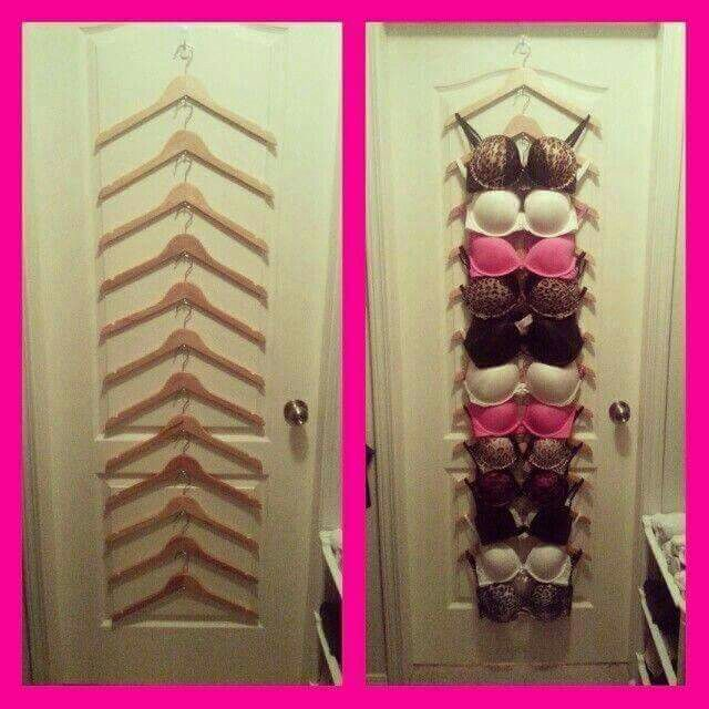 Ladies! Keep your bras organized and from getting smooshed or bent.