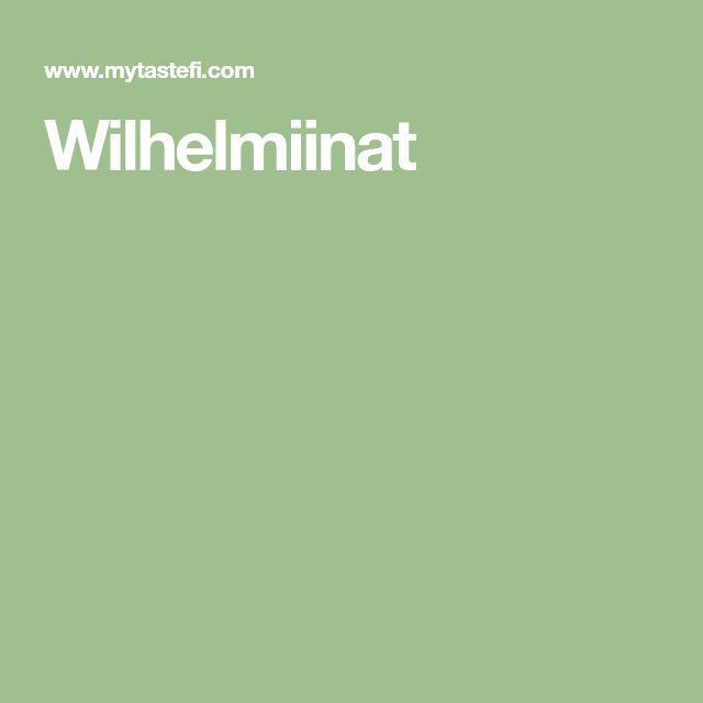 Wilhelmiinat