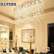 Moderno Rectangular Grande Ola Cortina Iluminación Araña de Cristal de Comedor vestíbulo del Hotel Vestíbulo Llevó La Lámpara de Techo(China (Mainland))