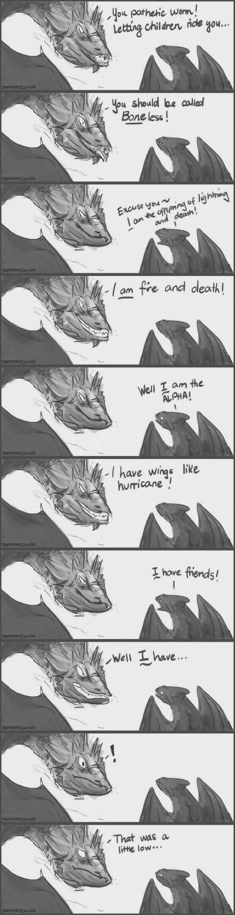 Smaug vs Toothless.