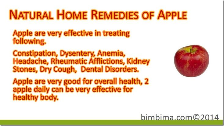 Natural Home Remedies of Apple
