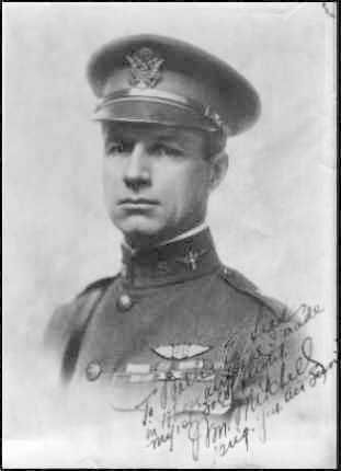 """Brigadier General William Mitchell. An important figure in the development of military aviation, """"Billy"""" Mitchell is regarded as the father of the U.S. Air Force. His criticism of Army and Navy leaders after the crash of the airship Shenandoah in 1925 led to a court-martial and subsequent resignation.    His ideas were proven correct. He wrote on this picture: To Walter E. Lees in whose airplane I made my 1st """"solo"""" flight.   Wm. Mitchell Brig. Gen. Air Service"""