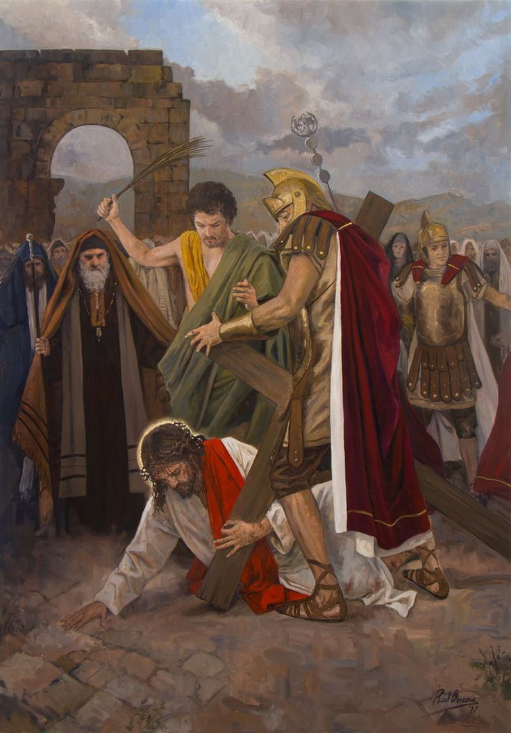 Jesus Falls for the Second Time / Segunda caída de Jesús // 2017 // Raúl Berzosa // VII Estación de Vía Crucis para Guatemala // #Christ #HolyWeek #WayoftheCross