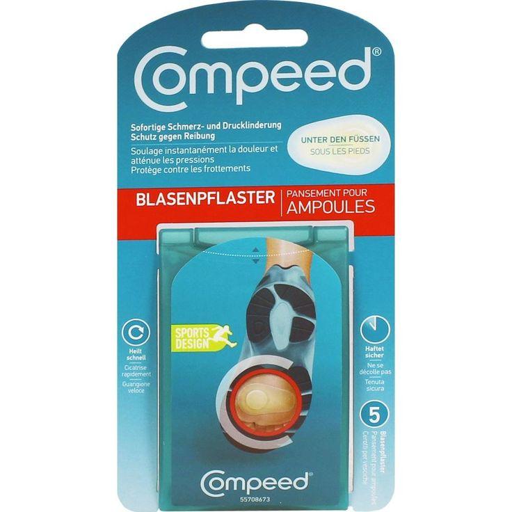 COMPEED Blasenpflaster unter den Fueßen:   Packungsinhalt: 5 St Pflaster PZN: 05738839 Hersteller: Johnson & Johnson GmbH (OTC) Preis:…