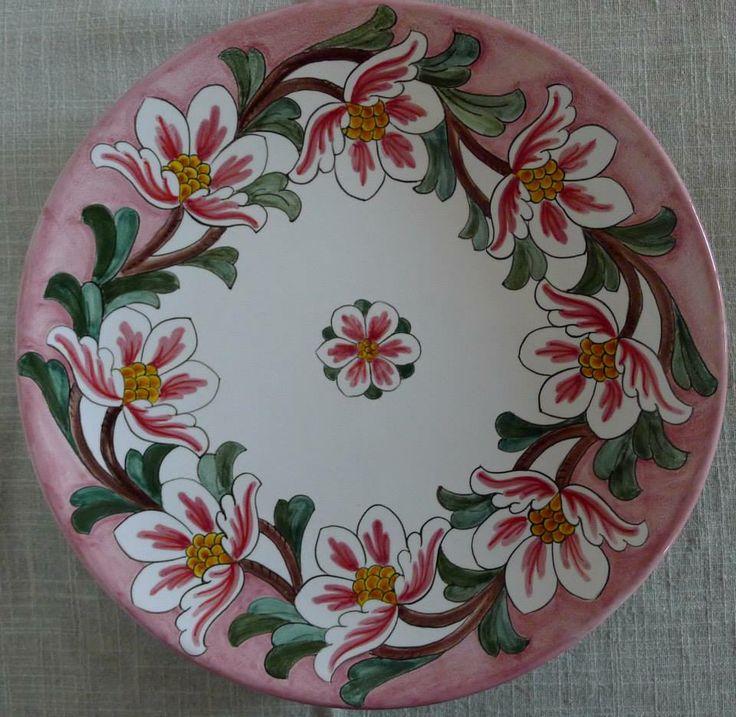 Wall plate #Majolica #Italy http://ceramicamia.blogspot.it/