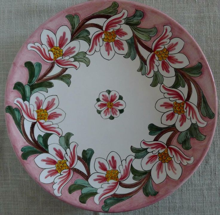 Wall plate #Majolica #Italy http://ceramicamia.blogspot.it/