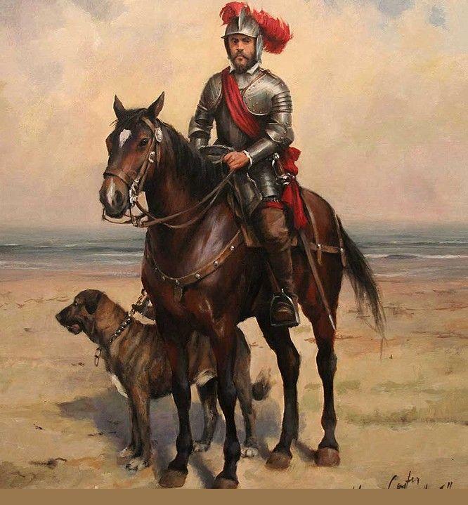 Hernán Cortés, según el maestro Ferrer-Dalmau. Más en www.elgrancapitan.org/foro