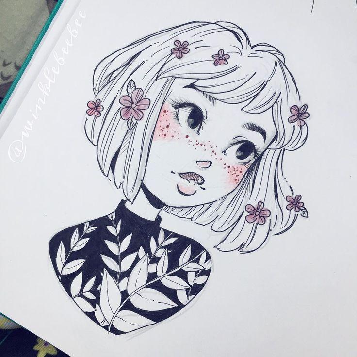 Dit meisje is zo mooi met die bloesem in haar haar