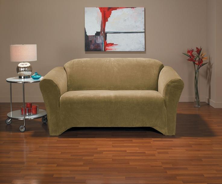 Hanover Camel Loveseat Slipcover, home decor, form fit slip cover design, living room, interior design, chair, chic, modern
